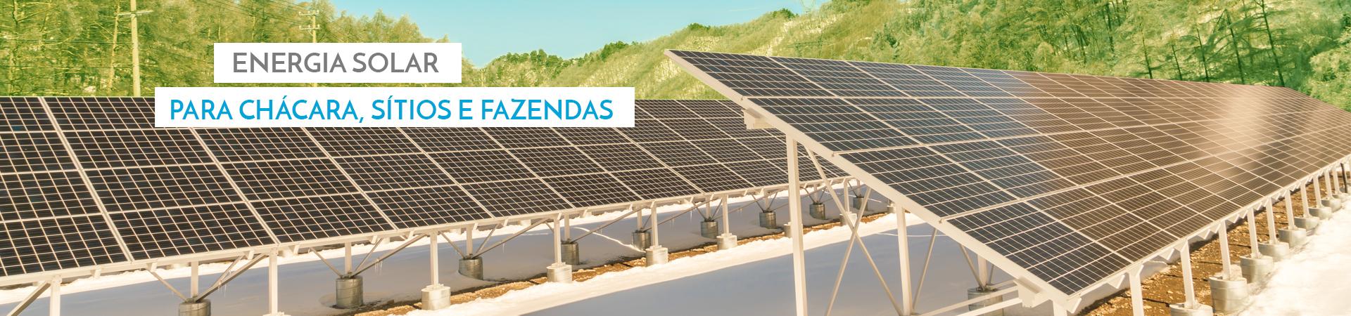 Geração de energia Solar para Imóveis Rurais